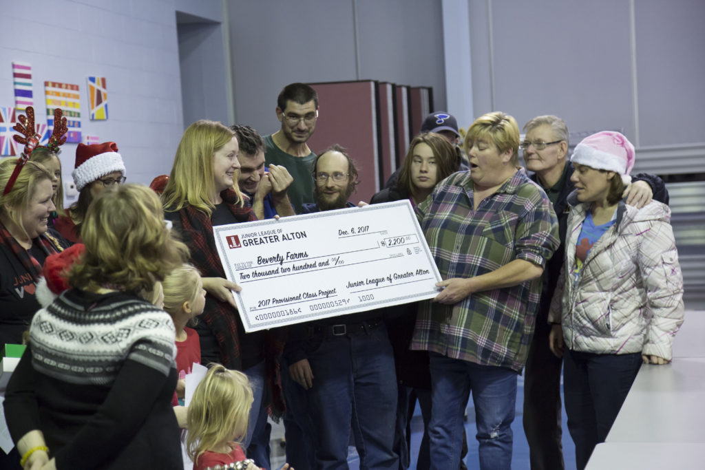 2017 Provisional Class Donates Check to Beverly Farm